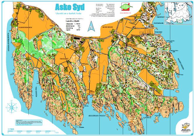 kart over vestmarka Aske Syd kart over vestmarka