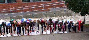 Rett før start. Ungdomsklassen Sport8 sprintstafett 2012 fra Brunla u-skole