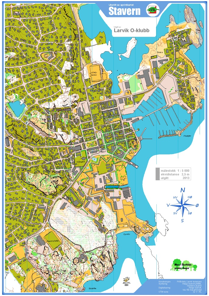 kart over stavern Stavern – Fredriksvern verft
