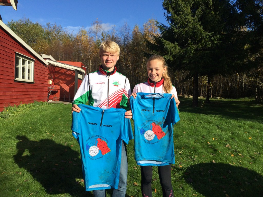 Tobias og Andrine vant klatretrøyene til odel og eie etter finalen i MOT.TV-cupen under Marummila 12. oktober 2014.