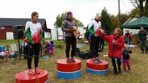 Denne trioen fra klubben tapetserte pallen på damenes 10km under Marummila 2015. Gratulerer til Ingrid, Julie og Martine!