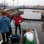 Fra arena ved Bratsberg brygge, Porsgrunn City Race 2015