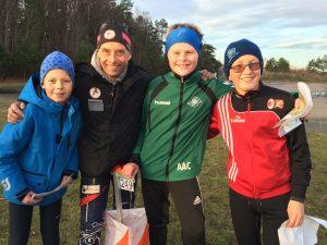 Bra oppmøte på GODIS. På bildet ser vi NOFs generalsekretær Lasse Arnesen sammen med Henrik, Andreas og Peder.