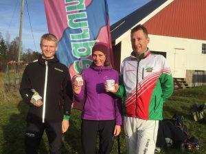 Tobias, Elin og Jørn med syne lysende førstepremier.